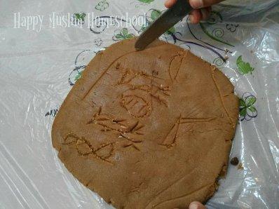 Carving hieroglyphs
