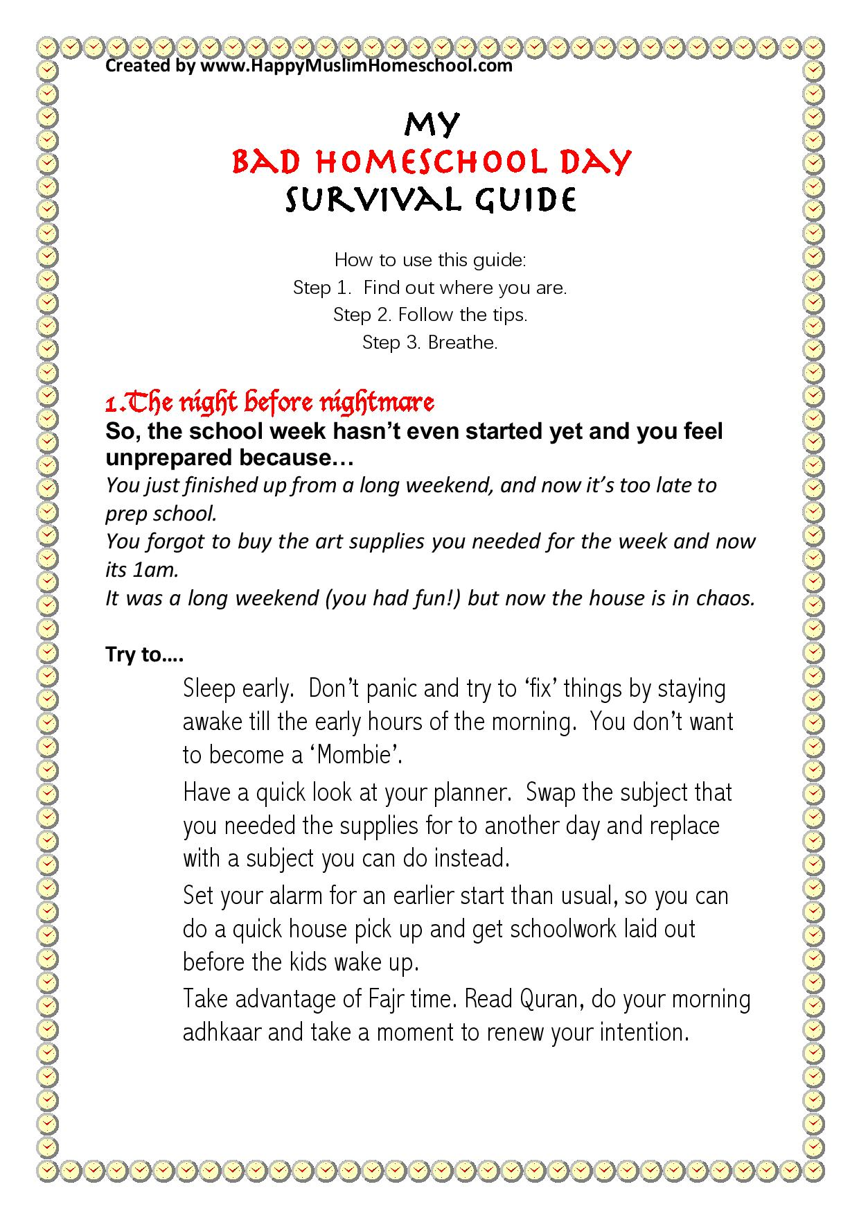 My Bad Homeschool Day Survival Guide-page-001